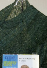 This handspun knitted shawl won an award at Five Counties in 2013.